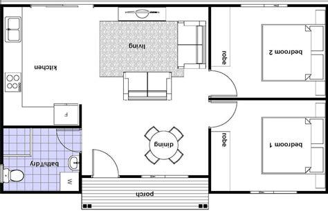 granny flat floor plans  bedrooms simple house plans