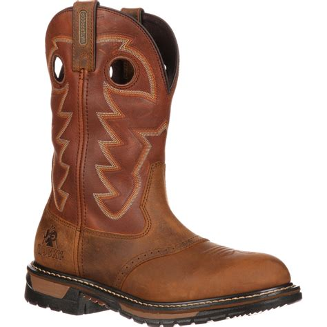 Western Boat by Rocky Original Ride Saddle Roper Western Boot Fq0002775