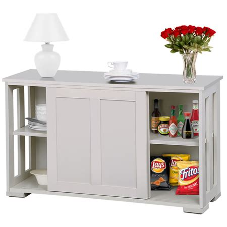 Antique White Sideboard Buffet by Yaheetech Sideboard Buffet With Sliding Door Antique