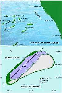 Map Of Lakshadweep Island Showing The Kavaratti Lagoon