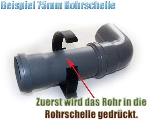 kg rohr schwarz 75 mm rohrschelle 2 teilig klappbar f 252 r ht kg und pvc rohre teichfilter