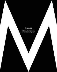futura shows garamond type specimen poster typography type