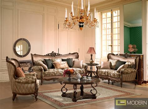 Fancy Living Room Sets : Luxurious Traditional Style Formal Living Room Furniture