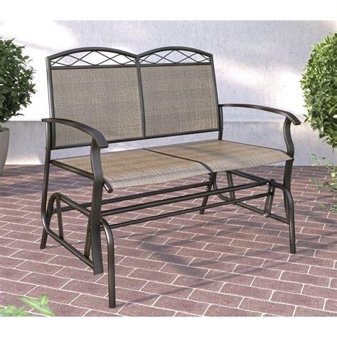 patio glider bench outdoor deck chair furniture porch