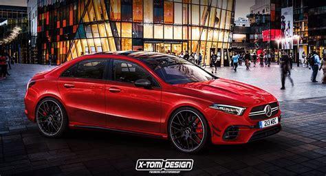 Mercedes-Benz A-Class Sedan Looks Mean In A45 AMG Guise ...