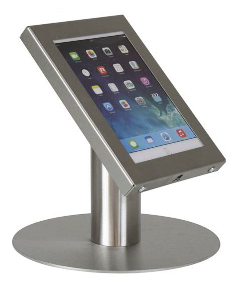 tablet stand for desk tablet desk stand securo 7 8 inch stainless steel lockable