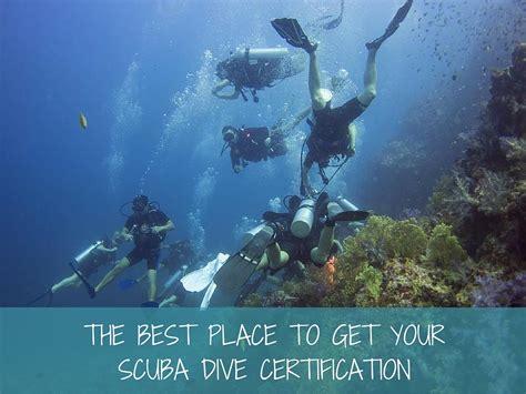 place    scuba dive certification