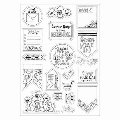Stickers Coloring Planner Sizzix Drawing