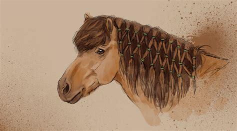 Pferd Mähne Flechten