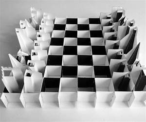 printable paper chess set folds flat for travel