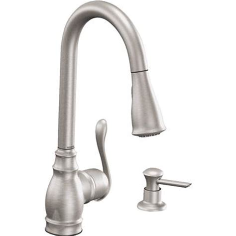 For Moen Kitchen Faucet by Moen Anabelle Classic Kitchen Faucet Pull Style In