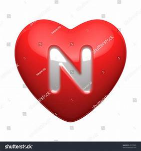 Letter N Alphabet Hearts There Clipping Stock Illustration ...