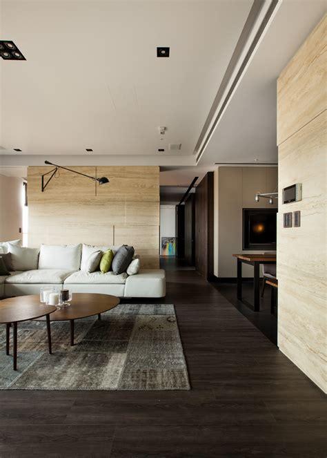 modern asian interior  natural materials interior