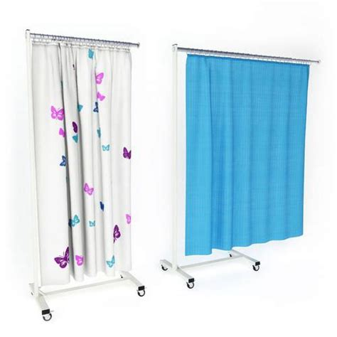 Draperies On Wheels by Hospital Curtains On Wheels 3d Model Cgtrader