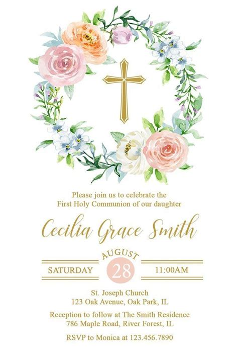Cheap First Holy Communion Invitations find First Holy