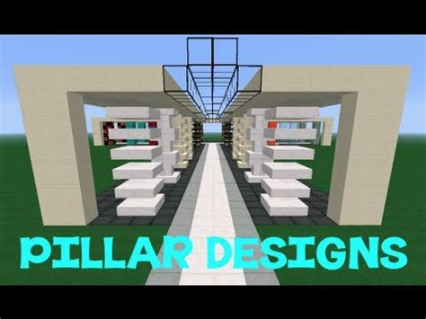 minecraft pillar designs youtube