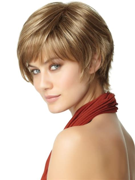 easy short haircuts  thick hair olixe style