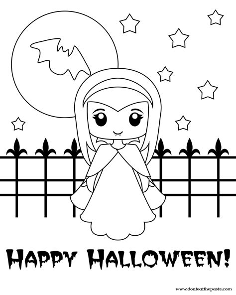 9 Best Images Of Friendly Vampire Coloring Pages Printable