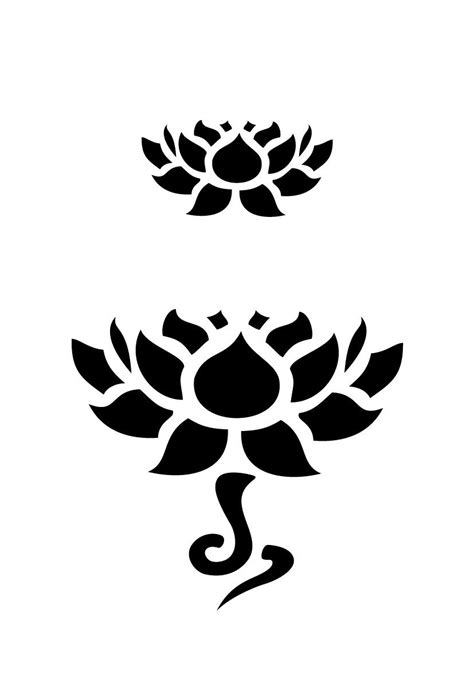 lotus stencil pattern free - Google Search …   Wall