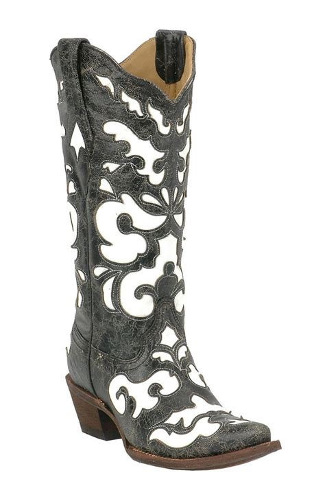 86238548b63 Black And White Cowgirl Boots - Ivoiregion