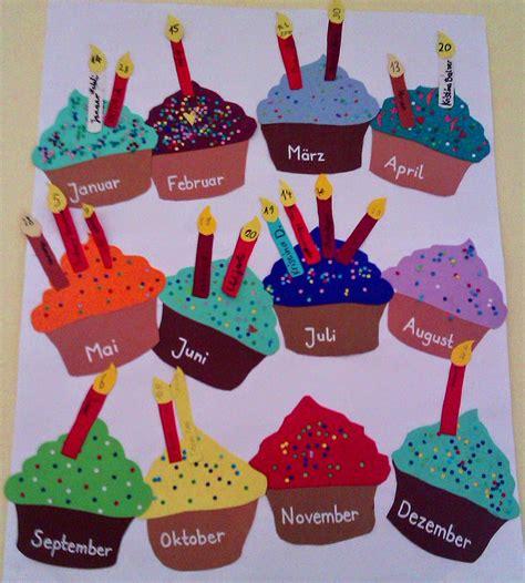 geburtstagskalender im kindergarten basteln kurz nach acht ein cupcake zum geburtstag basteln mit kindern