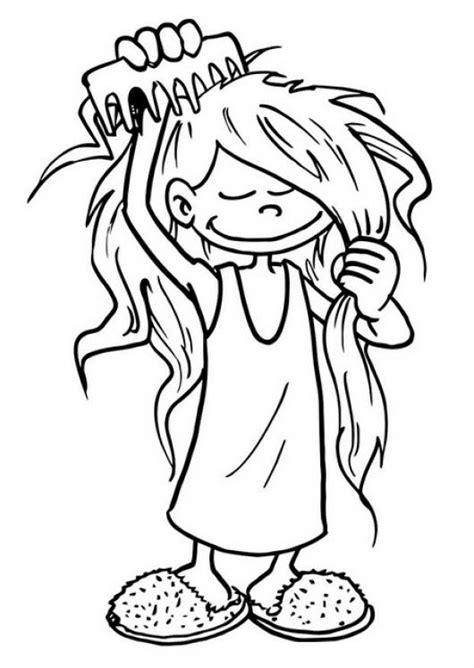 Un niño peinandose para colorear Imagui