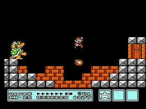 bowsers castle  super mario bros  youtube