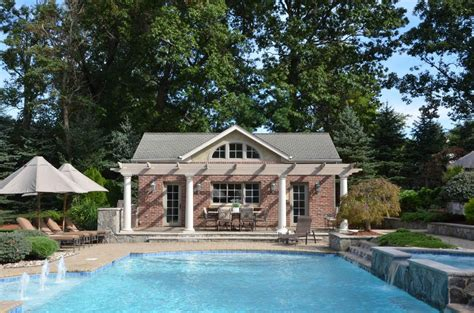 House Design Plans Pool by Awesome Pool House Designs In Design Pool Pergola
