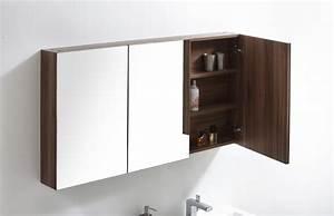Armoire Suspendue Salle De Bain : meuble de salle de bain armoire de toilette plan double vasque meuble sous vasque noyer le ~ Dode.kayakingforconservation.com Idées de Décoration