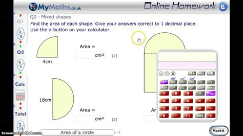 Mymaths  Area Of A Circle L6 Youtube