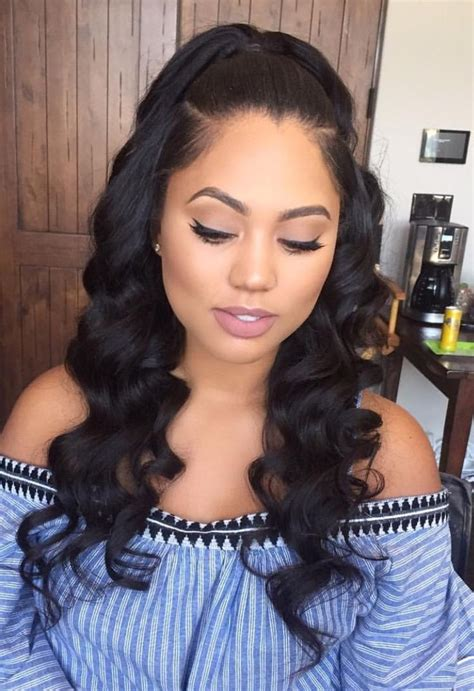 Sew In Weave Hairstyles Pics by Middle Part Sew In Hairstyles Fade Haircut