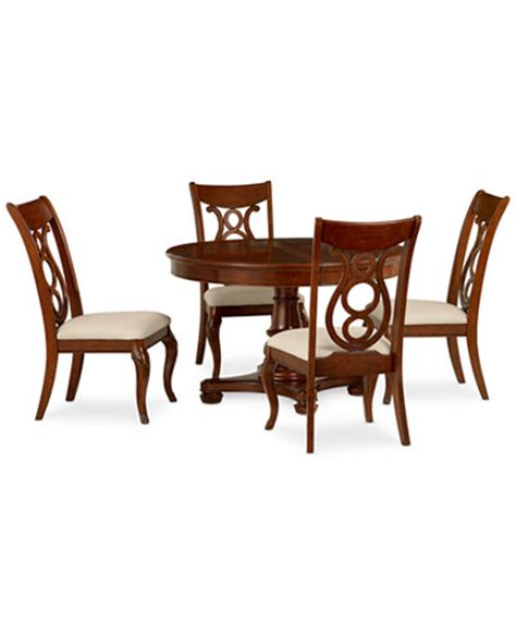 bordeaux 5 piece round dining room furniture set table