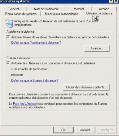 connexion bureau 224 distance pour mac r 233 glages du pc sous windows vista ou sous windows xp pro