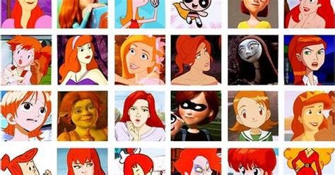Famous Cartoon Redheads