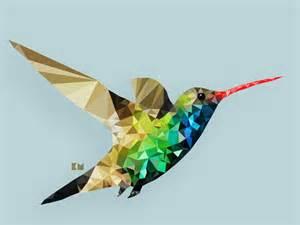 Hummingbird Abstract Clip Art