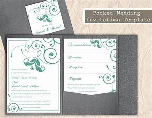 Pocket wedding invitation template set diy download for Diy pocket wedding invitations tutorial