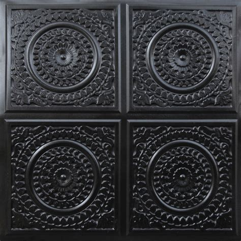 24 X 24 Black Ceiling Tiles by 117 Faux Tin Ceiling Tile Glue Up 24x24 Black Ceiling