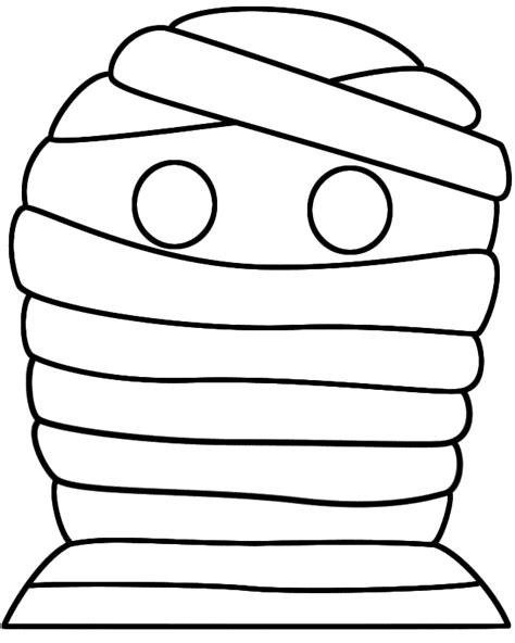 halloween mummy mask paper craft black  white