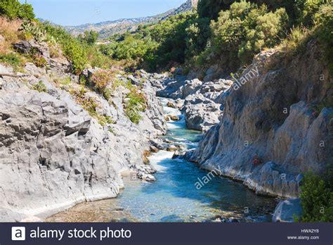 Travel To Italy Alcantara River In Gole Dell Alcantara