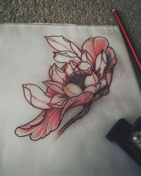 japanese lotus tattoo sketch  akos inkers japanese