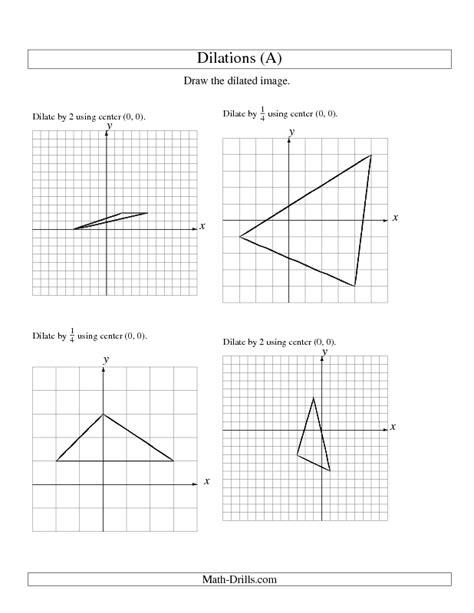 8th Grade Math Dilations Worksheets  Mrs Hester S Classroom Unit 1 8th Grade