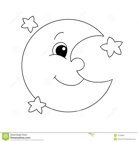 moon clipart black and white black and white moon stock illustration illustration of