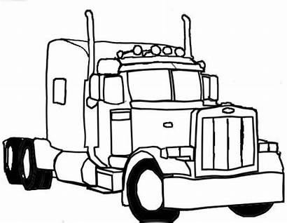 Truck Coloring Semi Pages Drawing Sketch Need