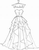 Coloring Pages Dress Dresses Printable Getcolorings sketch template