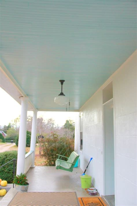 monday makeover haint porch ceiling blue my