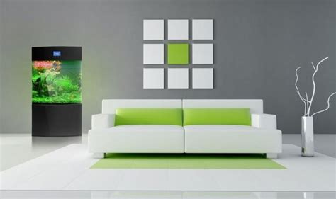 Living Room Decorating Ideas With Green White Color
