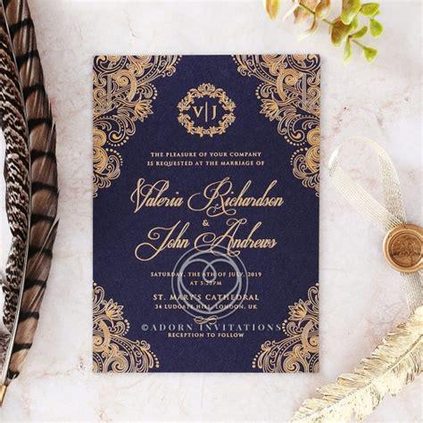 Beautiful And Breathtaking Old World Charm Wedding Card