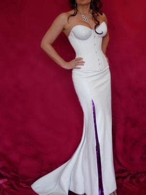 white leather hayworth wedding dress white leather dress