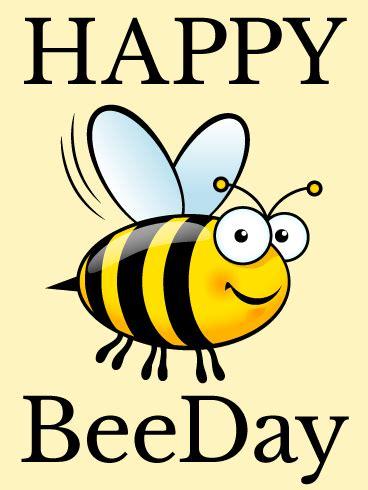smiling bee funny birthday card birthday greeting
