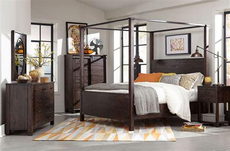 pine hill canopy bedroom set magnussen furniture cart
